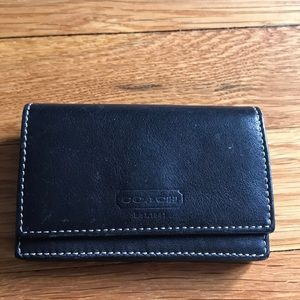 Coach Black Wallet Card Holder